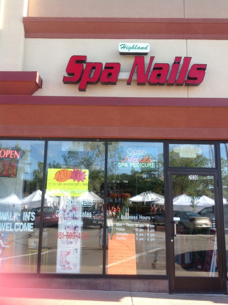 Highland Spa Nails Storefront